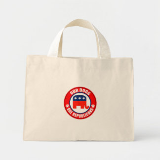 OUR DOGS ARE REPUBLICANS TOTE BAGS