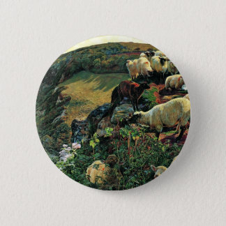 Our English Coast (Stray Sheep) By Hunt William 6 Cm Round Badge