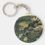 Our English Coast (Stray Sheep) By Hunt William Basic Round Button Key Ring