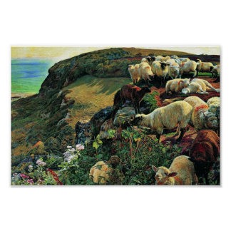 Our English Coast (Stray Sheep) By Hunt William Poster