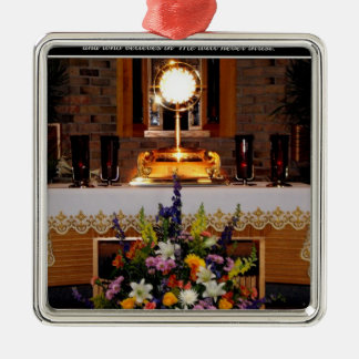 Our Eucharistic Lord in The Monstrance Christmas Ornament