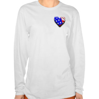 Our Exclusive 3-D Heart Flag T Shirt