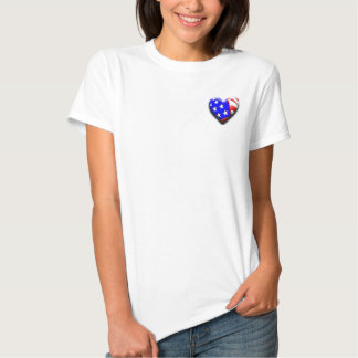 Our Exclusive 3-D Heart Flag Tshirts