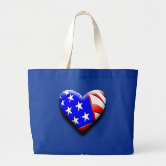 Our Exclusive Heart Flag Canvas Bags