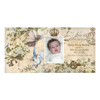 Our Faerie Princess, Baby Girl Birth Announcement Picture Card