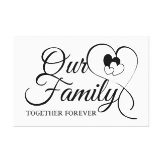 Our Family Canvas Print