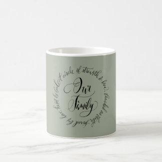 Our Family Mugs \\ Custom Modern Calligraphy