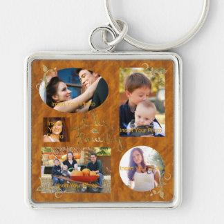 Our Family Photo Album Collage Key Ring