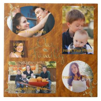 Our Family Photo Album Collage Tile
