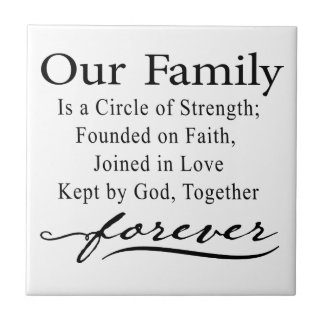 Our Family Quote Tile