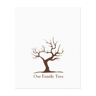Our Family Tree Canvas Template Gallery Wrap Canvas