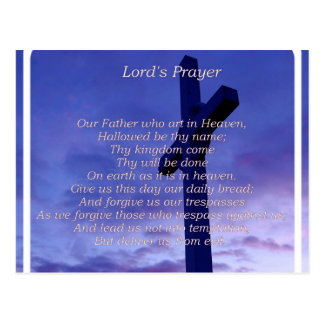 Our Father Postcard