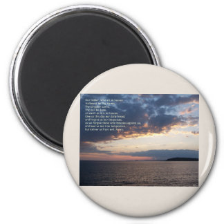 Our Father Prayer 6 Cm Round Magnet