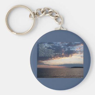 Our Father Prayer Basic Round Button Key Ring