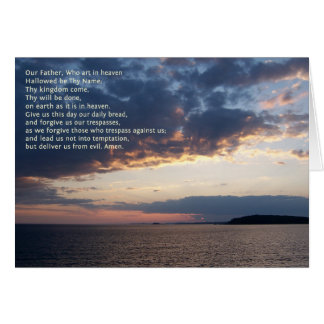 Our Father Prayer Greeting Card