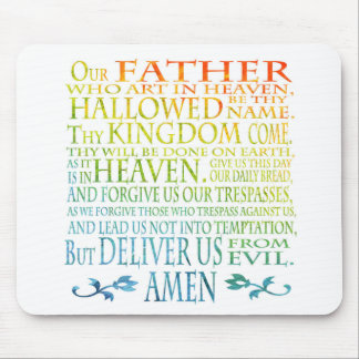 'Our Father' Prayer Mouse Mat