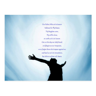 Our father prayer the classical healing love postcard