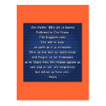 Our Father The Lord's Prayer Postcard