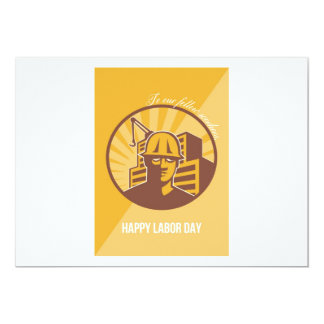Our Fellow Workers Labor Day Poster Retro 13 Cm X 18 Cm Invitation Card