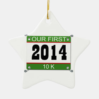 Our First 10K Ornament - 2014