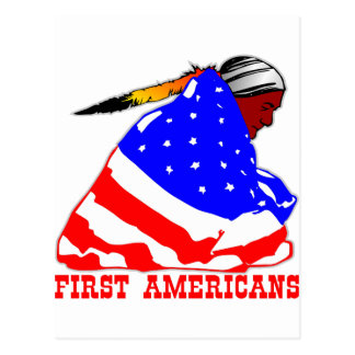Our First Americans Postcard