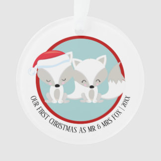 Our First Christmas Arctic Fox Personalized Photo Ornament