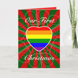 our first christmas as lgbt married couple holiday card