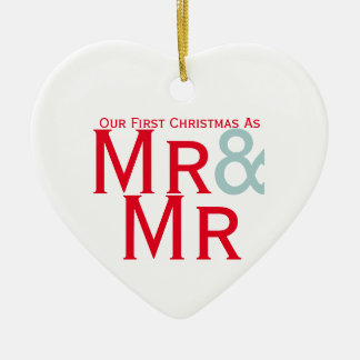 Our First Christmas as Mr and Mr Gay Themed Christmas Ornament