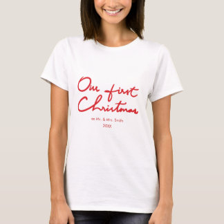 Our First Christmas as Mr. and Mrs. | Newlywed T-Shirt