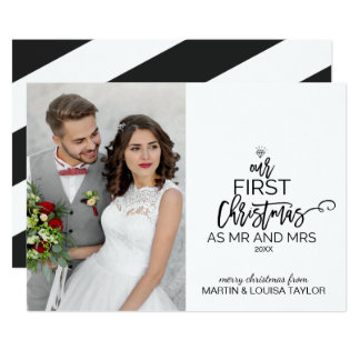Our First Christmas as Mr and Mrs Photo Card