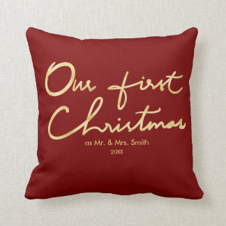 Our First Christmas as Mr. & Mrs. | For Newlyweds Cushion