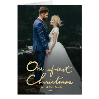 Our First Christmas as Mr. & Mrs. | Newlywed Photo Card