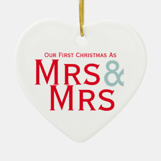 Our First Christmas as Mrs and Mrs Lesbian Themed Christmas Ornament