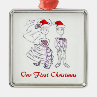 Our First Christmas/Bride & Groom Christmas Ornament