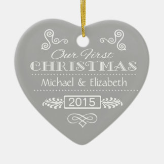 Our First Christmas Ceramic Heart Decoration