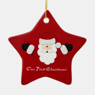 Our First Christmas Ceramic Star Decoration