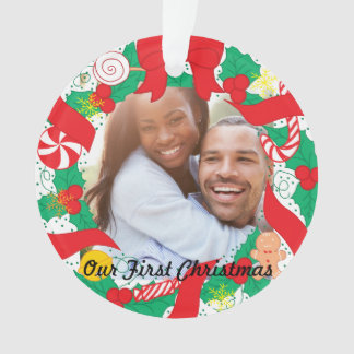 Our First Christmas |  Custom Photo Ornament