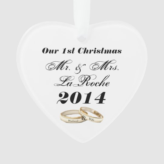 Our First Christmas Customisable Mr. & Mrs. Ornament