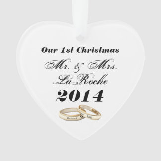 Our First Christmas Customizable Mr. & Mrs.