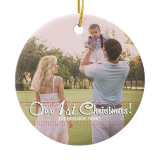 Our First Christmas Elegant Modern Ornament