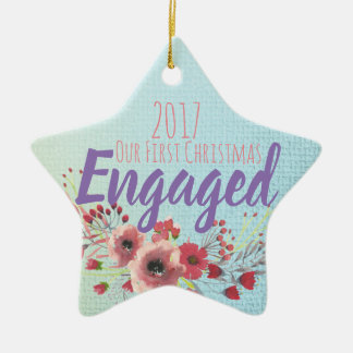 Our First Christmas Engaged Christmas Ornament