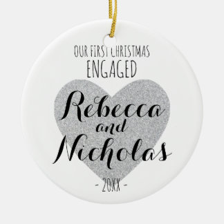 Our first Christmas engaged or together ornament