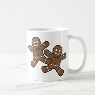Our First Christmas Gingerbread Couple Gay Pride Basic White Mug