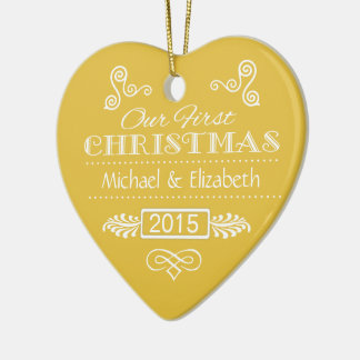 Our First Christmas Gold Ornament
