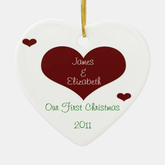 Our First Christmas Heart Ornament