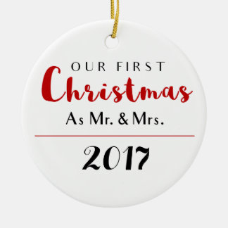 Our First Christmas Holiday Christmas Ornament