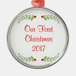 Our First Christmas Holly Christmas Ornament