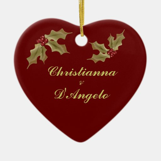 """""""Our First Christmas/Husband and Wife"""" Christmas Ornament"""