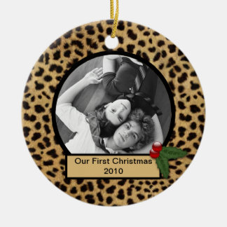 Our First Christmas Leopard Print Ornament