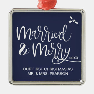 Our First Christmas, Married and Merry Christmas Ornament